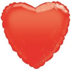 Balón srdce 45 cm červené matné