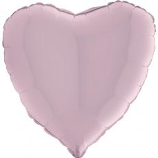 Balón srdce 45 cm Ružová Pastel