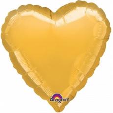 Balón Srdce 45 cm zlaté