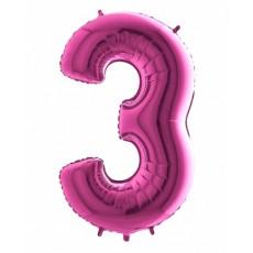 Balón narodeninový číslo 3 maxi