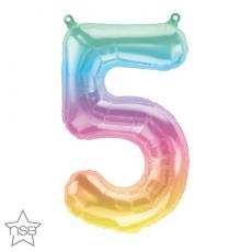 Balón Číslo 5 malé dúha
