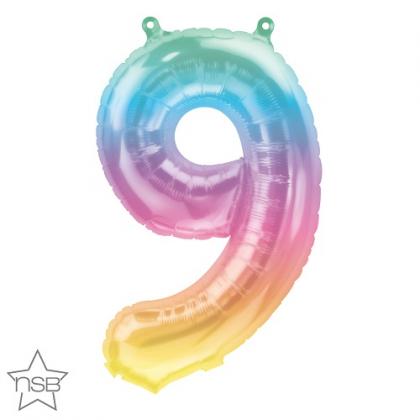 Balón Číslo 9 malé dúha