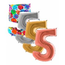 Balón Číslo malé 5