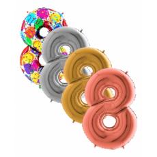 Balón Číslo malé 8