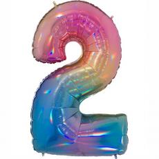 Balón Číslo 2 dúha maxi