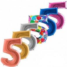 Balón narodeninový číslo 5 maxi