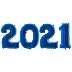 Novoročné číslo 2021 Modré 100 cm