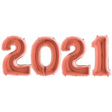 Novoročné číslo 2021 Rose Gold 100 cm