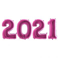 Novoročné číslo 2021 Ružové 100 cm