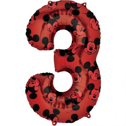 Balón číslo 3 Mickey veľké