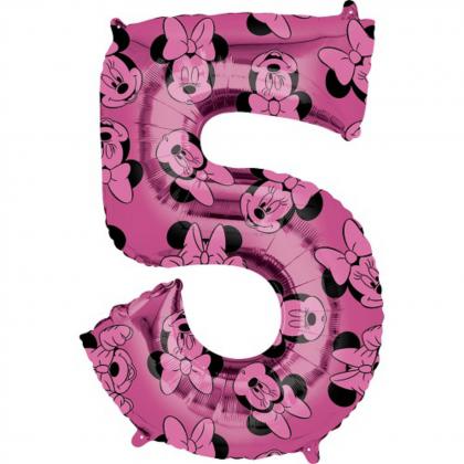 Balón číslo 5 Minnie veľké