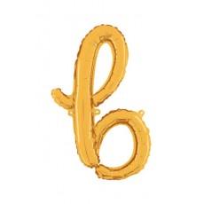 Písmeno malé zlaté B script