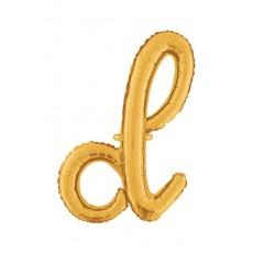 Písmeno malé zlaté D script