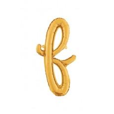 Písmeno malé zlaté F scrip