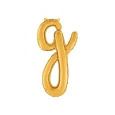 Písmeno malé zlaté G script