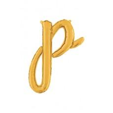 Písmeno malé zlaté P script