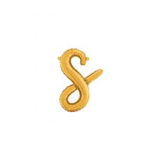 Písmeno malé zlaté S script