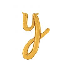 Písmeno malé zlaté Y script