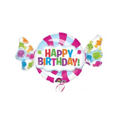 Balón Cukrík Happy Birthday US