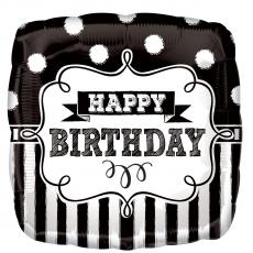 Balón Happy Birthday štvorec US