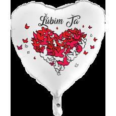 Balón Ľúbim Ťa biely