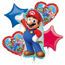 Balónová kytica Super Mário