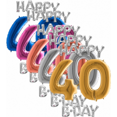 Balóny 40 Happy B Day