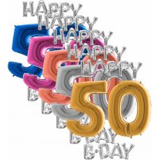 Balóny 50 Happy B Day