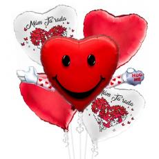 Balónová kytica Valentín Mám Ťa Rada