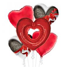 Balónová kytica Valentín Pre Moju Lásku