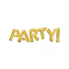 Balónový banner PARTY zlatý
