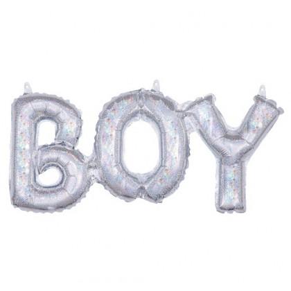Balónový banner BOY holog.