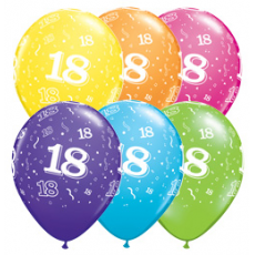 Balóny narodeninové 18 set 6 ks
