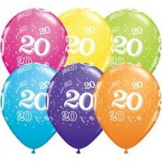 Balóny narodeninové 20 set 6 ks