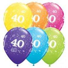 Balóny narodeninové 40 set 6 ks