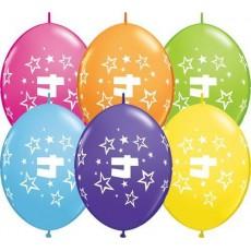 Balón naväzovací Q číslo 4 Qlink Stars