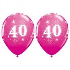 Balón narodeninový číslo 40 ružový 11´´ pink
