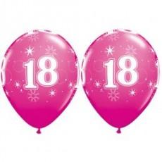 Balón narodeninový číslo 18 ružový 11´´ pink