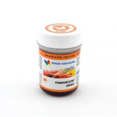 Jedlá gélová farba Oranžová