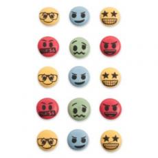 Cukrová dekorácia Emoji 15 ks