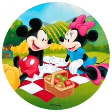 Jedlý obrázok Mickey & Minnie Mouse 20 cm
