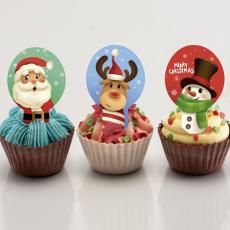 Jedlý papír Vánoce muffiny 20 ks