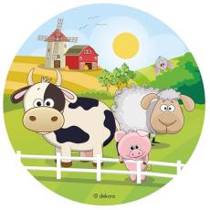 Jedlý obrázok Zvieratká farma 20 cm