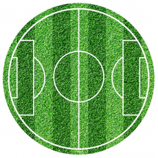Jedlá oplátka Futbal 20 cm fondánová