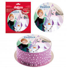 Jedlá oplátka na tortu Frozen 2 20 cm