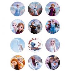 Jedlé obrázky Frozen na muffiny 12 ks /5,4 cm/