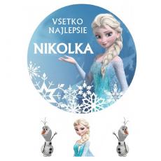 Jedlý obrázok Frozen Elsa s menom
