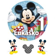 Jedlý obrázok Mickey Mouse s menom