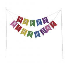 Ozdoba na tortu Happy Birthday