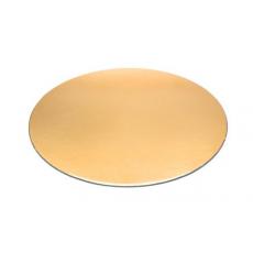 Podnos na tortu zlatý tenký 28 cm